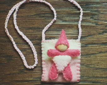 Gnome Pocket Friend -Pink