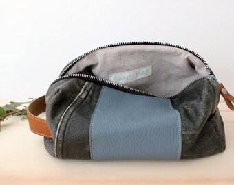 Leather Dopp bag Toiletry case