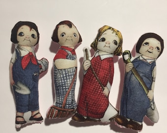 3 inch vintage inspired plush dolls dolly dingles perfect friends for Blythe