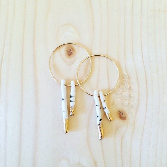 Porcelain Birch Earrings