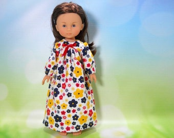 13 inch doll clothes made to fit dolls such as Corolle Les Cheries doll clothes, White Flower Nightgown , 08-2255