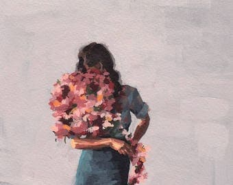 SECONDS SALE . Flower Child . extra large wall art . giclee print