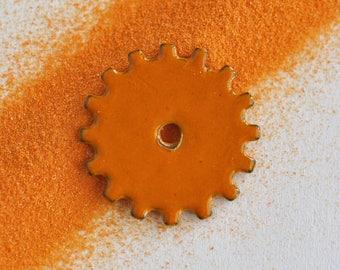 Thompson Enamel, 1840 Sunst Orange, 3 oz., Orange Glass, Orange Enamel, Kiln Enameling, Torch Enameling, Enameling Supplies, Glass Supplies
