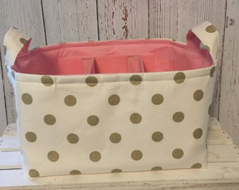Diaper Caddy, Baby Caddy, Baby Organizer, Diaper Organizer with adjustable Dividers. Choose your Size