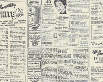 Basic Newsprint Natural - 1/2 yd. cuts