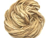 Plant dyed handspun yarn in thick and thin super bulky merino wool - 73 yards, 5 ounces/ 144 grams