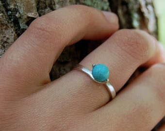 Kailani - Turquoise ring, silver ring, friendship ring, right hand ring, blue, gemstone ring, stacking ring, gift idea, teens, adults