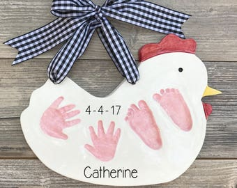 how to take baby handprints and footprints