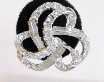 ON SALE Sparkling Vintage Baguette  Rhinestone Earrings