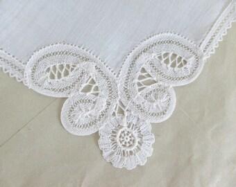 Hankie Brussels Lace Belgium Souvenir Bridal Wedding Still New