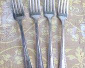 4 1929 Berkeley FORKS ANTIQUE Silverware Flatware