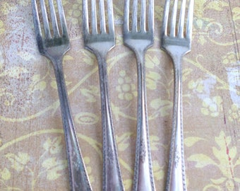4 1929 Berkeley FORKS ANTIQUE Silverware Flatware