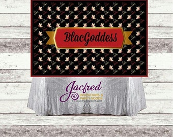 Christian Louboutin inspired Candy table backdrop. Wall Decor ( Digital or printed)