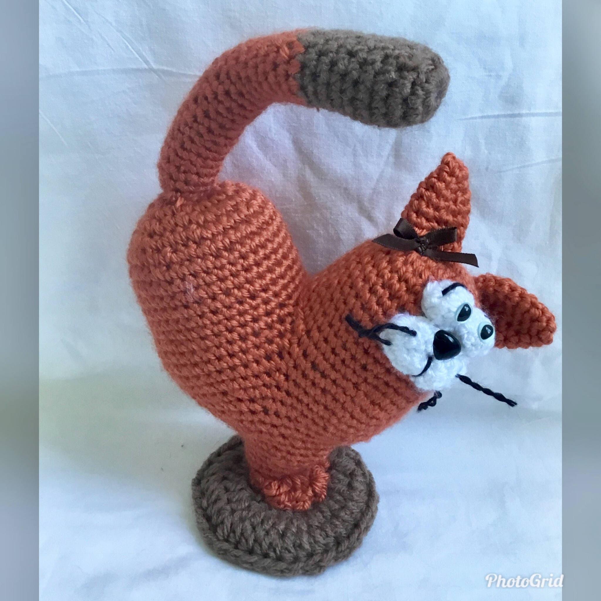 Amigurumi cat heart cat crochet orange cat stuffed doll cat zoom bankloansurffo Gallery