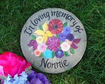 IN LOVING MEMORY of Stepping Stone, Memorial Gift, Garden Memorial Stone, Wedding Gift, Bridesmaid Gift, Mother of the Bride Gift, Sympathy