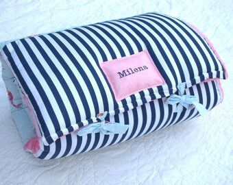 Mermaids PINK Nap Mat by Janiebee  Day Care Nap Mat, Boutique Nap Mat, Thickest Machine Washable Napmat