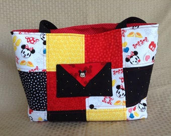 Mickey and Minnie Mouse Emoji tote bag