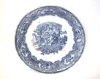 Hunter Flow Large Blue Bowl 19th Century