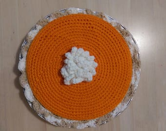 Pumpkin Pie Covered Candy Dish Crochet