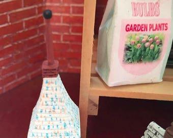 """SALE Miniature Birdhouse, """"Russian Cottage Birdhouse"""" Dollhouse Miniature, 1:12 Scale, Mini Bird House, Red Birdhouse"""