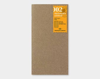 Traveler's Notebook Refill - B6 Slim- 002 Grid - Midori