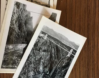 Six royal gorge images 2 1/2 x 3 1/2. Black and white samborn