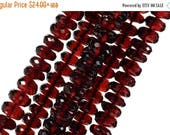 ON SALE AAA Garnet Beads Rondelles Faceted Pyrope Garnet Rondels Roundels Deep Red Earth Mined Gemstone January Birthstone - 6 to 10mm