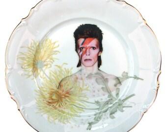 """David Bowie Portrait Plate 11"""""""
