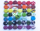 Kazuri Beads, 50 Kazuri Beads, Rainbow Coloured Ceramic Beads, Kazuri African Beads No. 136