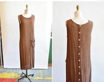 25% off Storewide // Vintage 1980s minimalist RAYON shift dress
