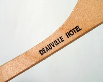 Deauville Hotel Coat Hanger Miami Beach Vintage Wood Memento of Florida