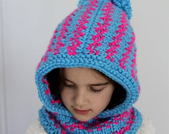 KNITTING PATTERN- The Leila Slouchy Hood ( toddler, child and adult sizes)