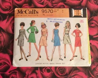 60's Vintage Mccalls Sewing Pattern