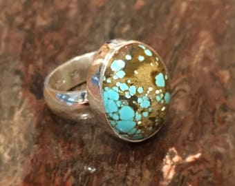 Number 8 Turquoise Ring, Nevada turquoise, sterling silver ring, southwest jewelry, genuine turquoise ring, turquoise jewelry, boho jewelry