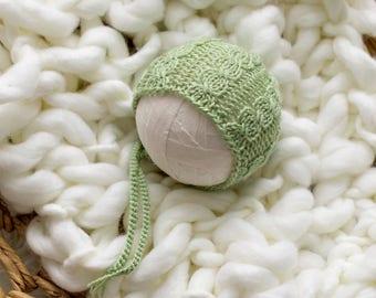Knitting Pattern, Knit PDF Pattern,  Newborn Hat Pattern, PHOTO shoot prop,  Knit, Tutorial, PDF, Newborn hat, Eloise Bonnet