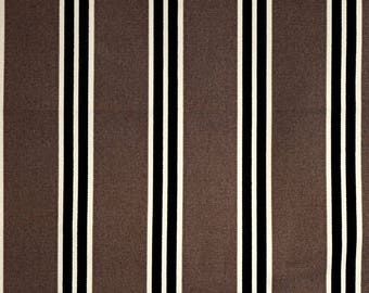Black Brown Striped Fabric West Bend