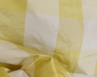 Alexandria Maize Yellow Silk Check Fabric