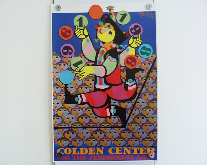 Bjorn Wiinblad Original Poster Golden Center for the Performing Arts 1989 Art Danish