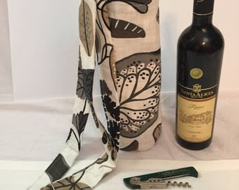Bottle holder cotton canvas reversible