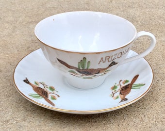 Vintage Arizona Cup and Saucer Souvenir China