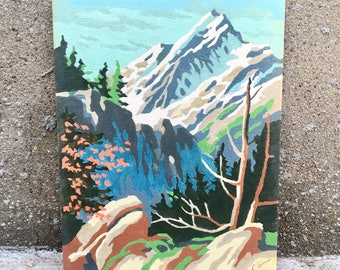 Vintage 8 x 10 Paint by Numbers - Mountains