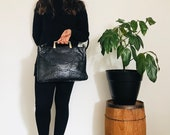 Vintage caprice genuine snake skin handbag purse || vintage handbag || snake skin accessories || leather purse || vintage leather bag