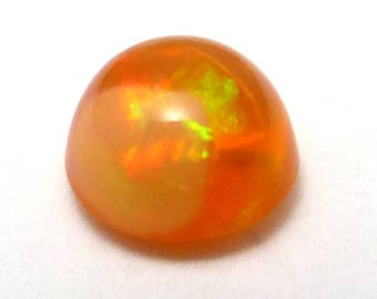 Mexican Fire Opal Cabochon 5.5mm Round Solid Orange Translucent Color Free Form Perfect for a ring