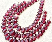 AAAAA Quality 6 Inches, Very-Finest Amazing Quality, RHODOLITE Garnet Faceted Pear Briolettes, 7-10mm aprx.