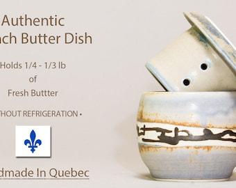 Butter Crock, Pottery Butter Dish, Ceramic French Butter Dish, Butter Keeper, Cloche de beurre, Soft Butter Keeper, Beurrier Breton