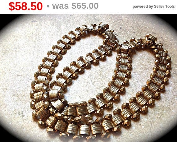 Summer Sale Vintage chain necklace vintage chain gold tone necklace