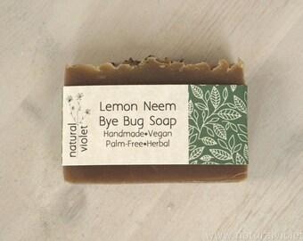 Lemon Neem Soap, Vegan Soap, Handmade Bath Products, Palm Free Soap, Organic Bath and Body, Herbal Soap, Vegan Body Care, Natural Soap