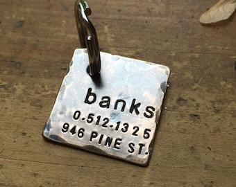 Custom Dog ID / Pet ID Tag, Emma, in 1'' Distressed Bronze