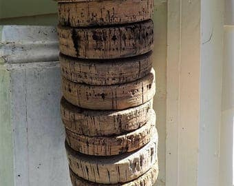 Antique Vintage Cork Floats Buoy Fishing Bouy Lot of 10