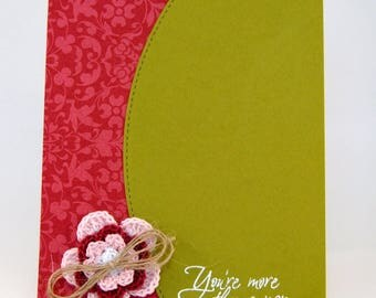 Crochet Flower Mother's Day Greeting Card
